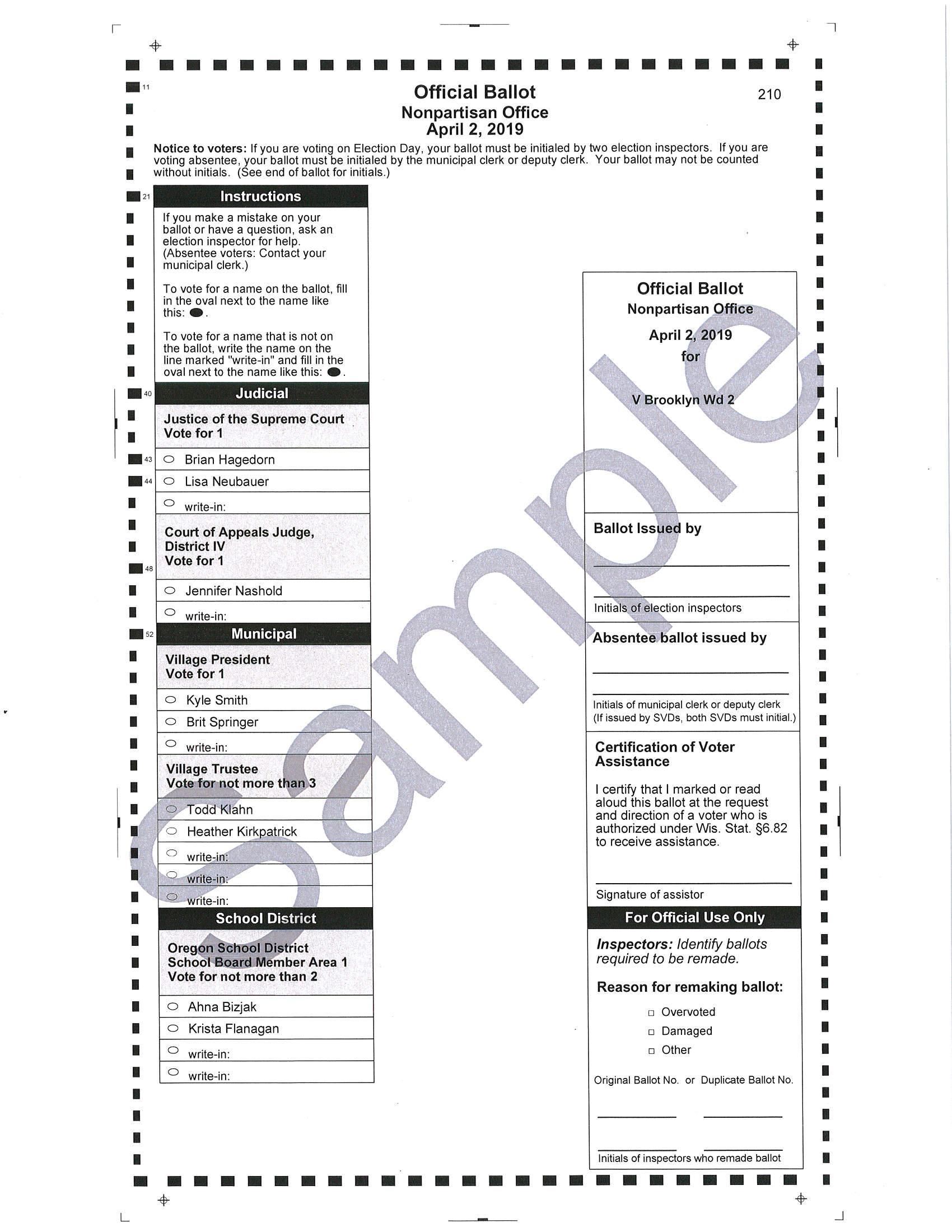sample ballot green